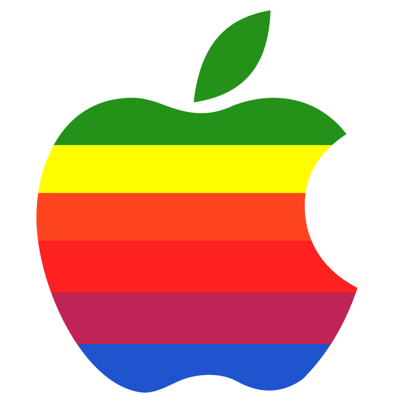 First official Apple corporate logo, used from 1977 until 1998