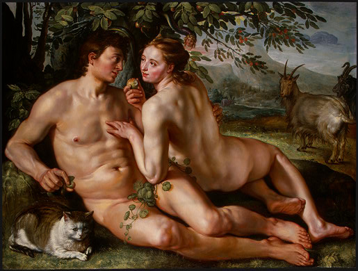 Hendrick Goltzius,  The Fall of Man . Oil on canvas, 1616.