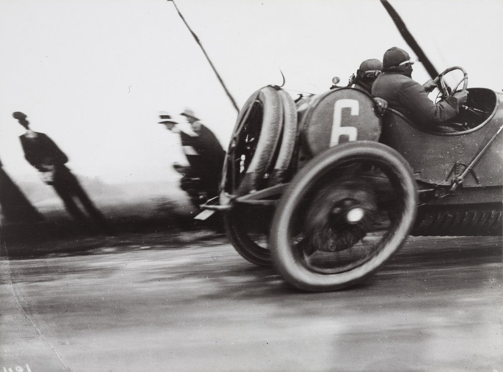 Grand Prix of the Automobile Club of France, Course at Dieppe , 1912. Jacques-Henri Lartigue.