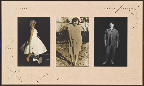 The 500-Year Itch , 1992, triptych by Shelley Niro.