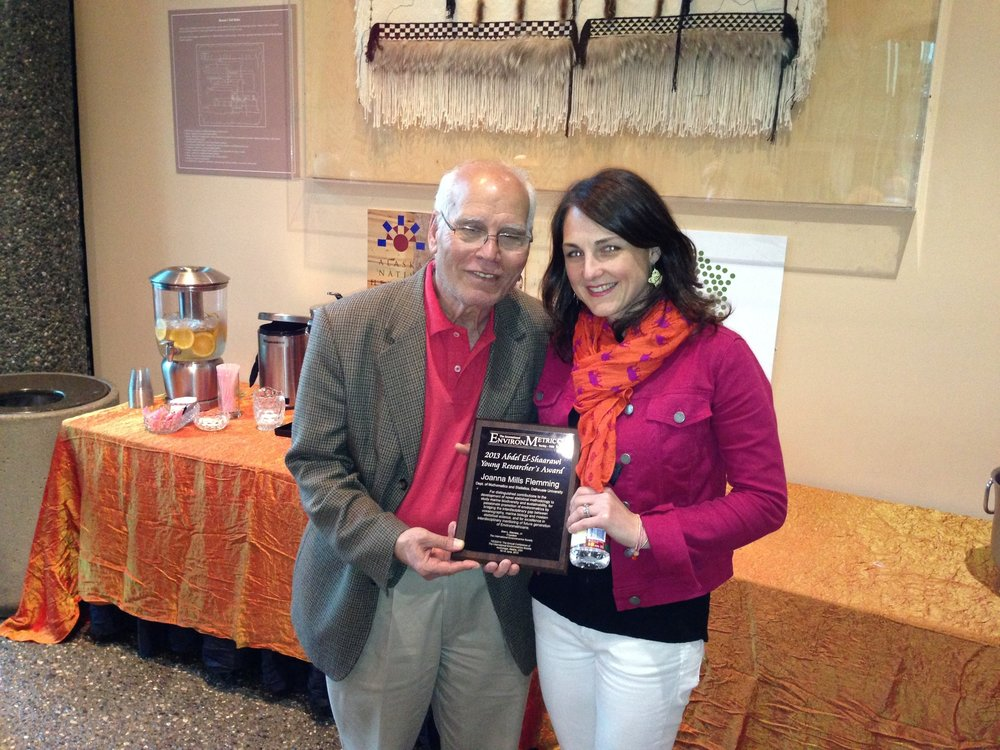 Receiving the award from Abdel in Anchorage, Alaska at the TIES Meeting.