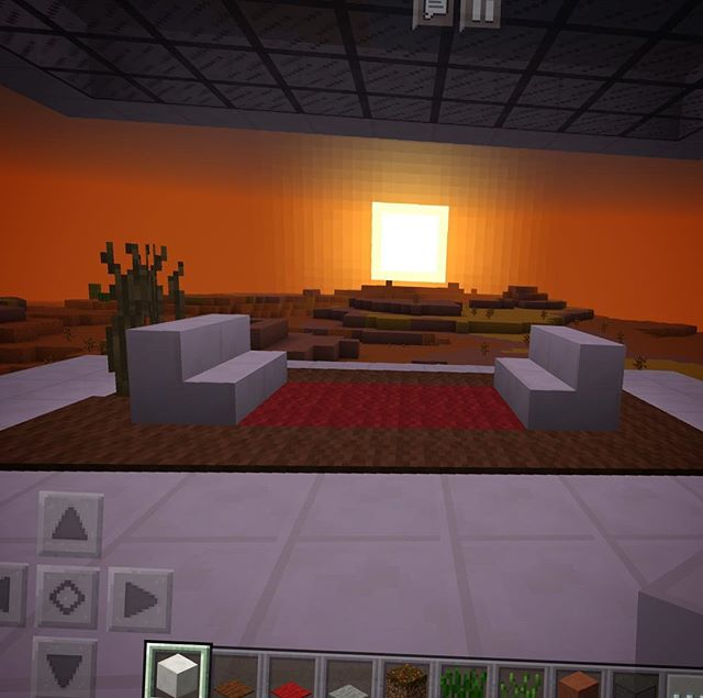 My desert escape. I can smell the cinnamon air. #openconcept #arizona #minecraft #dwell #modernliving #crickets