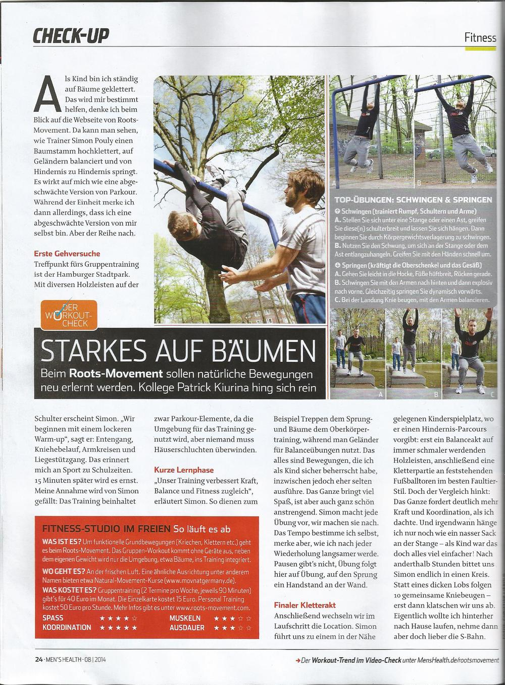 Roots Movement in der  Men's Health 08/2014