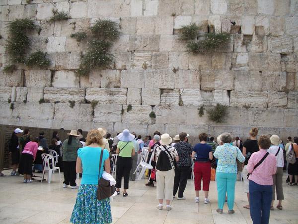 Wailing Wall (aka Western Wall) at Temple site in Jerusalem.