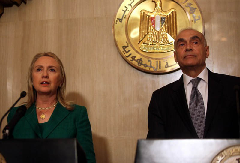 US Sec.State Clinton & Egyptian Foreign Minister Mohammed Amr