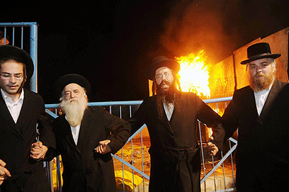 Dancing at Lag B'Omer Celebration