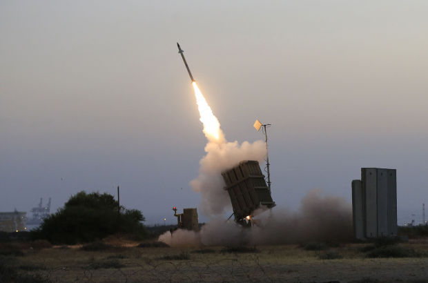 Iron Dome Launches Interceptor