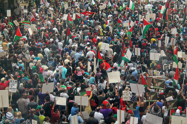 Protest in solidarity with Gaza in Chicago