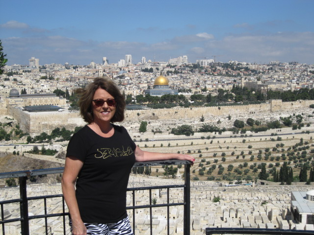 Overlooking the Temple Mount which will someday soon house the 3rd and final Temple