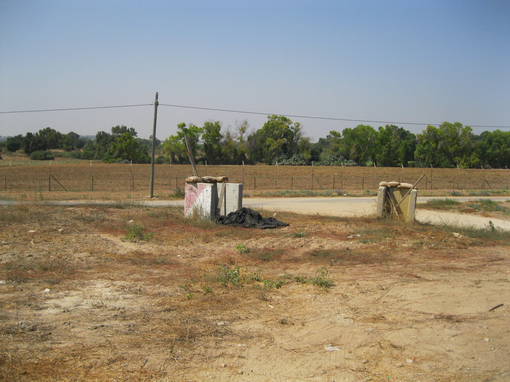 This was an outpost in the 2014 Operation Protective Edge War and is just outside the gate at the girls school
