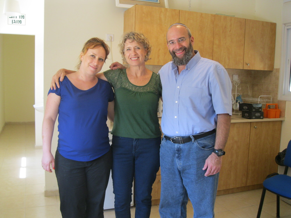Shmuel stands on the right and is the Director of Operation Lifeshield, the organization with which we work to provide live-saving bomb shelters in Israel!