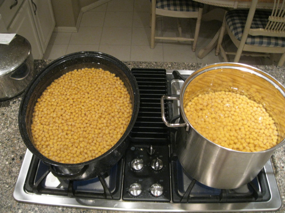 The garbanzo beans seemed to have cooked for hours!