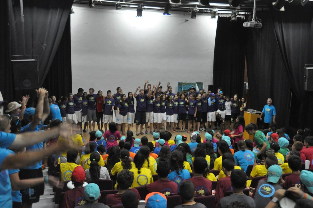Kfar Silver Students on stage.jpg