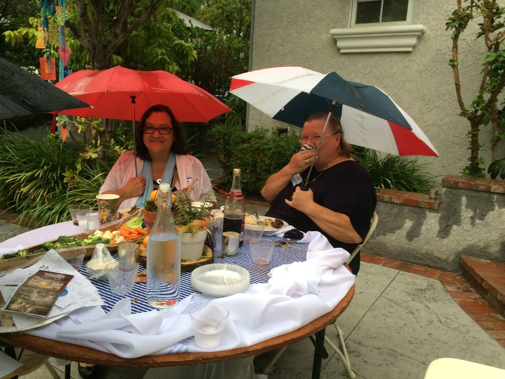 Some stayed for dinner even in the rain!