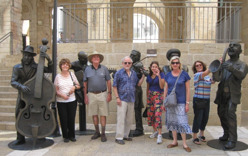 A few of our group walked to the Mamila Mall in Jerusalem.