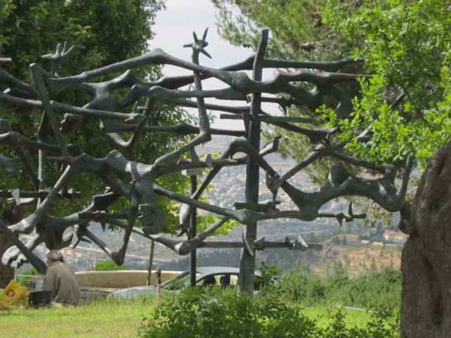 Broken Arms and Legs Art at Holocaust Museum - Yad Vashem