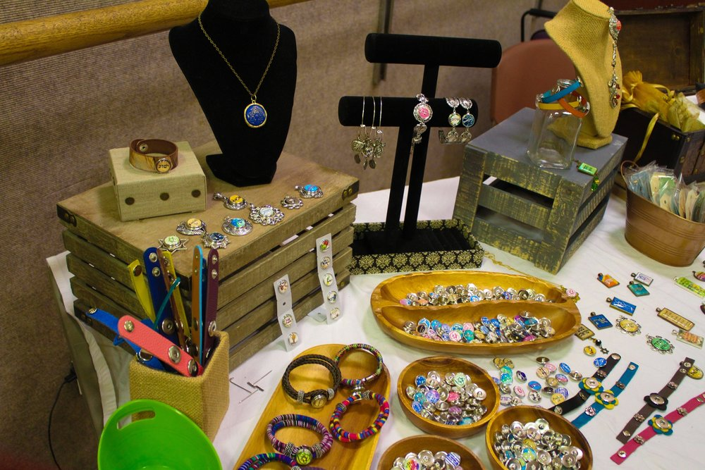 Several vendors sold jewelry.