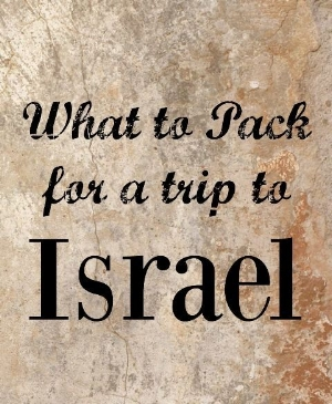 Israel What to take.JPG