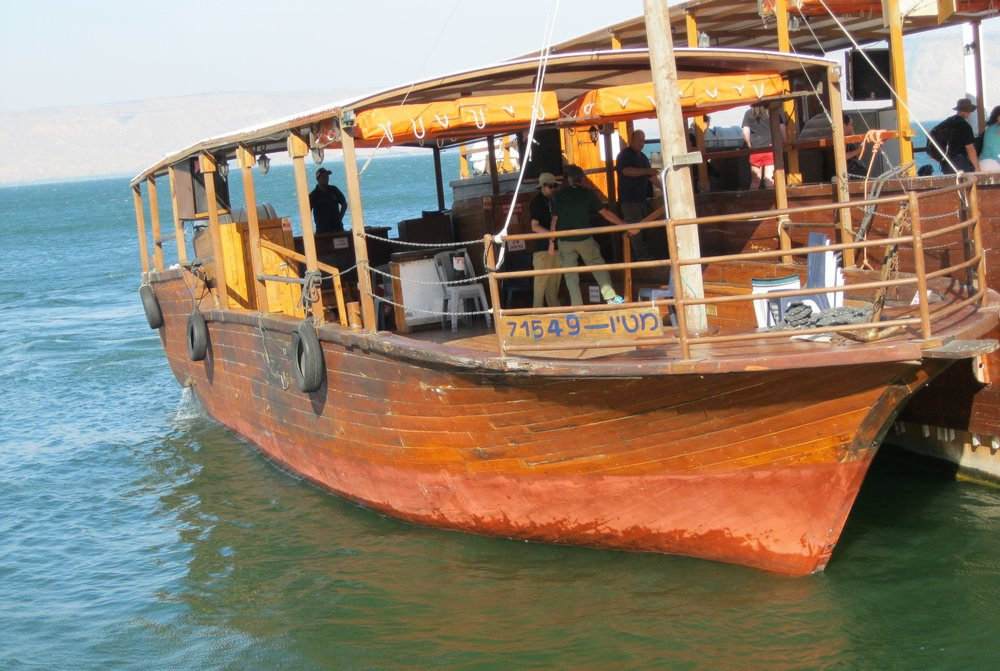 "The ""Jesus Boat"" on the Sea of Galilee"