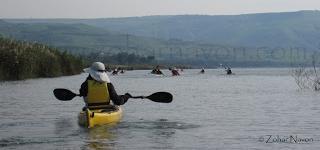 Kayakiing on the Sea of Galilee