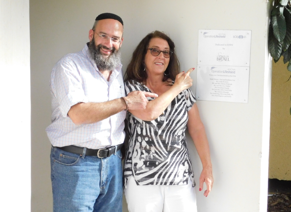 Shmuel Bowman, Executive Director Operation Lifeshield and Deby Brown, Director Song For Israel