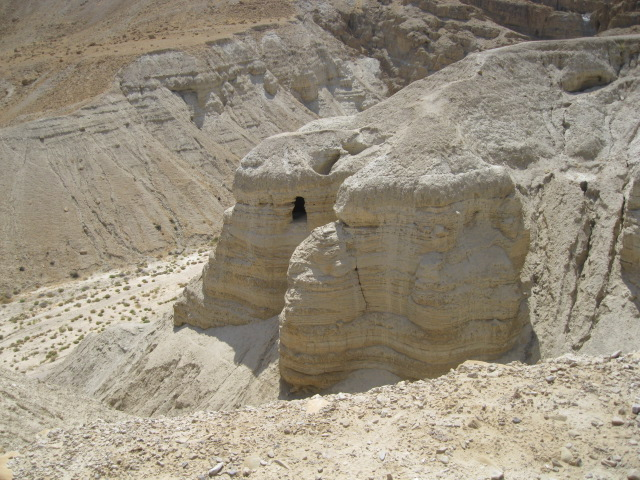 Qumran Caves where the Dead Sea Scrolls were Discovered