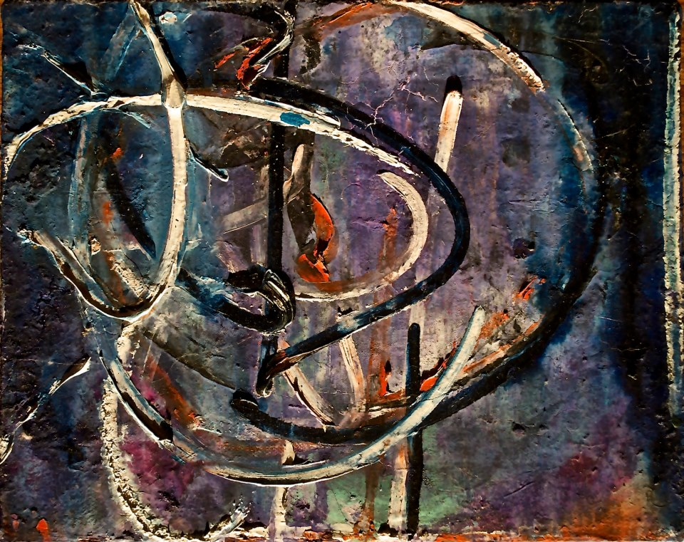 "Untitled 1990   1990, oil/canvas; 6 x 9""   Copyright © Tennyson Woodbridge, 1963 to present"
