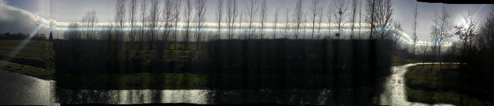 Route de Vallières_2  Photograph, 4 Mars 2015  ; copyright © Tennyson Woodbridge, 1963 to present