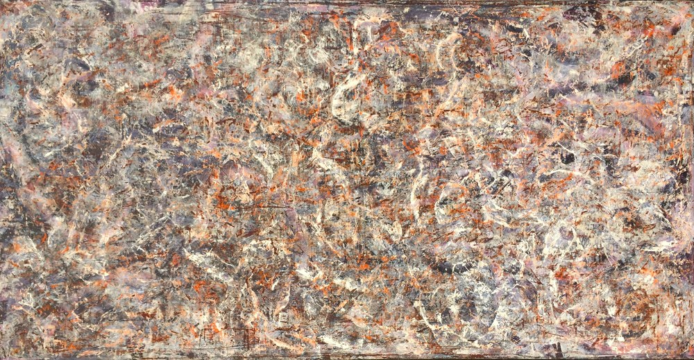 "Untitled 1985-1988   Oil/canvas, 35x68"", collection Andrew Scharlatt   Copyright © Tennyson Woodbridge, 1963 to present"