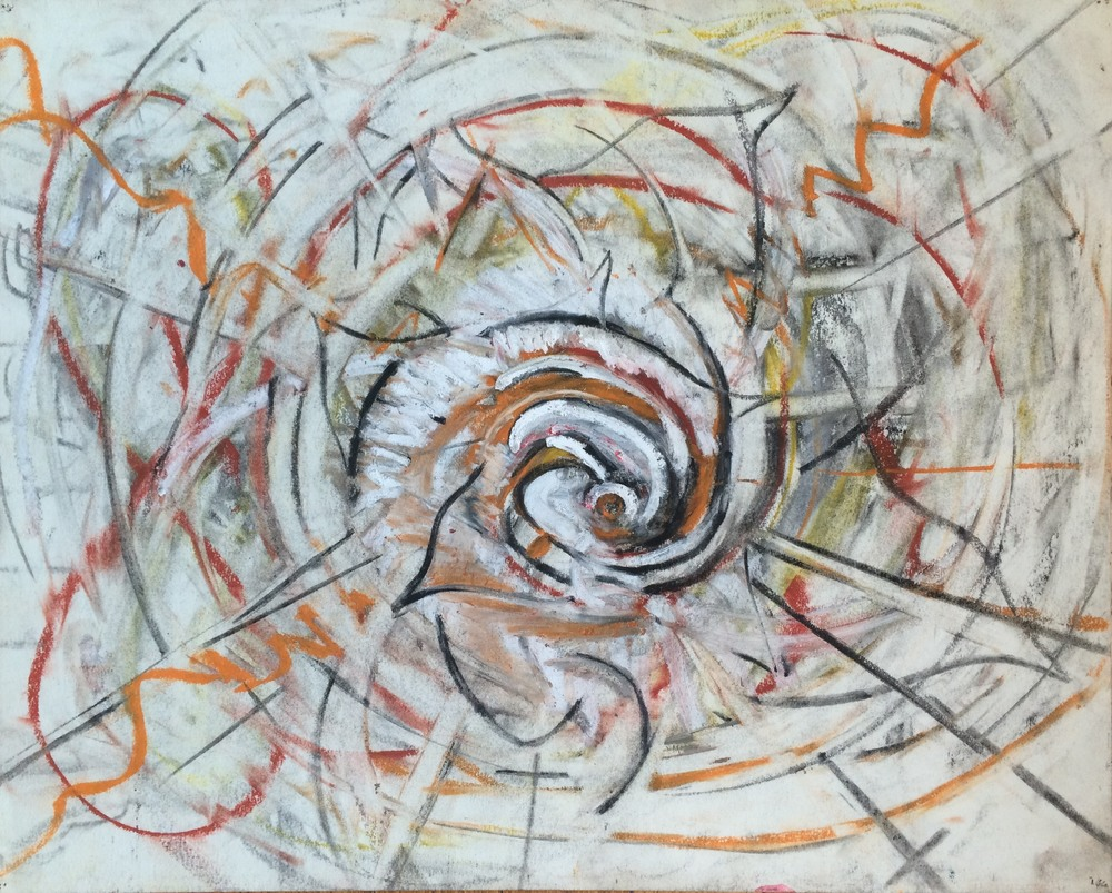 "Untitled Light 1990, charcoal, graphite, conte, oil-pastel on paper; 13 3/4 x 17""  Copyright © Tennyson Woodbridge, 1963 to present"