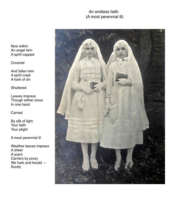Demon y Angel (angel y demon)   Poem, found photograph + digital assembly; 2014 (re-worked September, 2015); Copyright © Tennyson Woodbridge, 1963 to present
