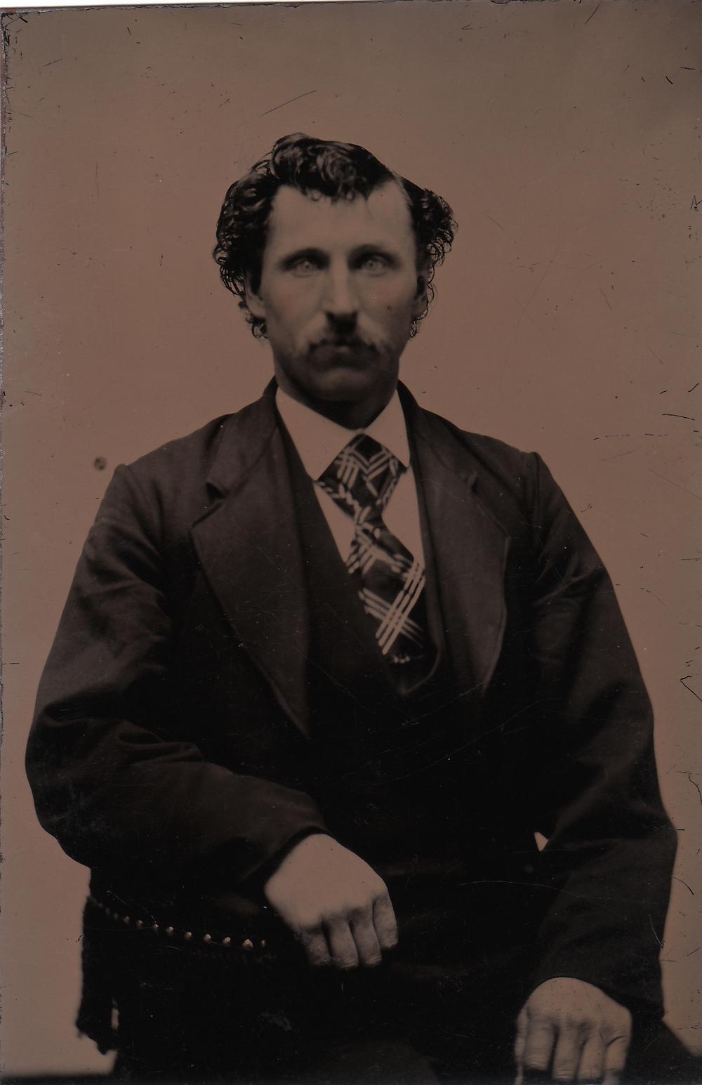 M. Castleton, 1896   Found tintype, 2014