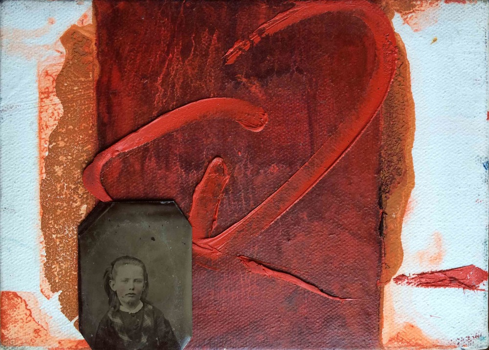 "1870, 1990, 2014 Oil/canvas, tintype, 2014-1870, 5x7"" Copyright © Tennyson Woodbridge, 1963 to present"