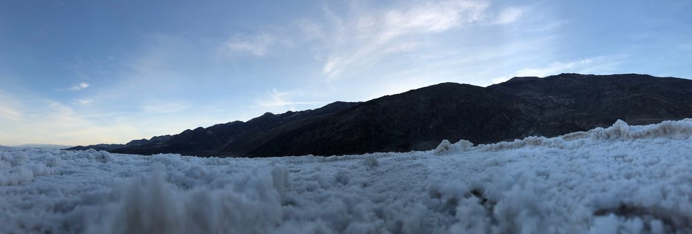 Badwater Basin  Photograph, 5 May, 2018; 6:22AM  Copyright © Tennyson Woodbridge, 1963 to present
