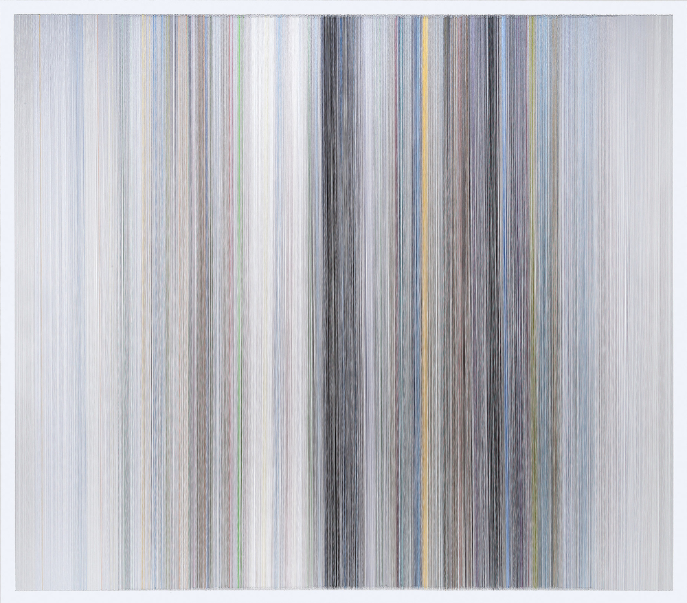 thread drawing 27  2013 rayon thread 58 by 51 inches