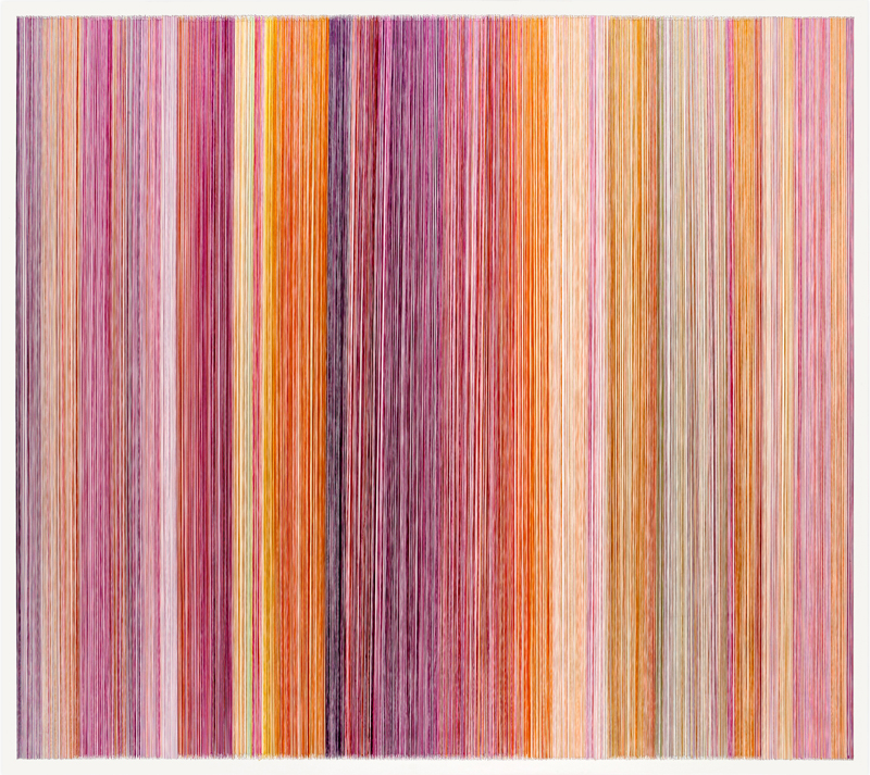 thread drawing 06  2011 rayon thread 58 by 51 inches Private Collection, Kansas City, MO