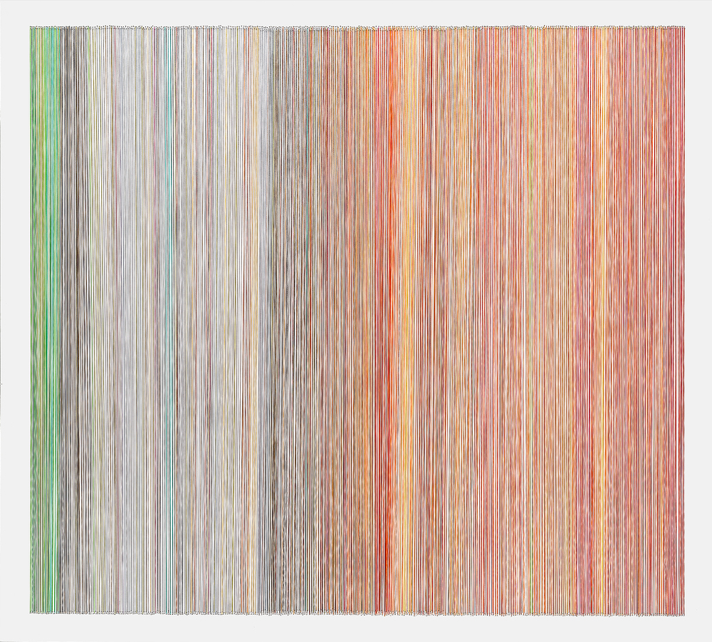 thread drawing 19  2013 rayon thread 31 by 28 inches