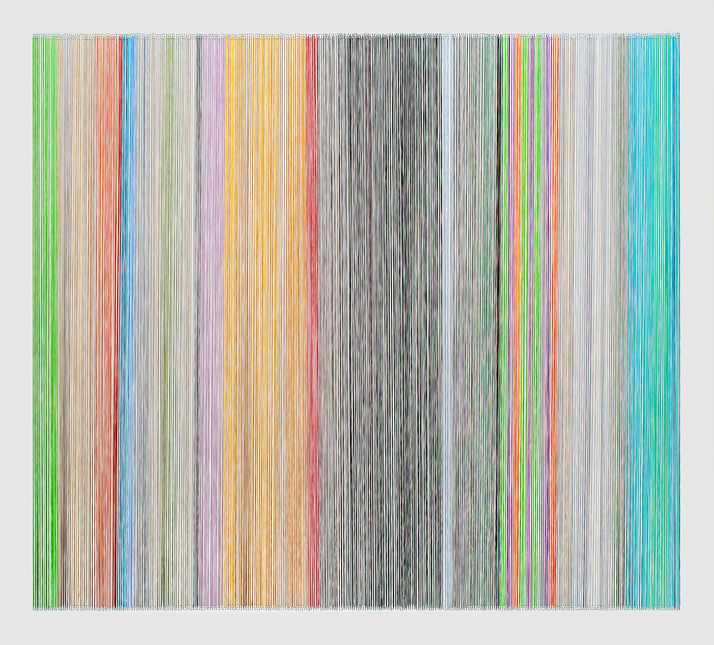 thread drawing 14  2012 rayon thread 31 by 28 inches