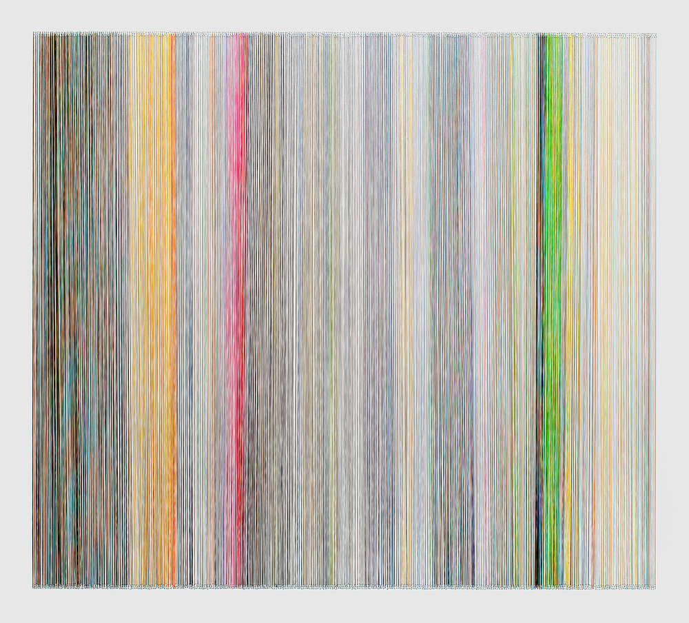 thread drawing 13  2012 rayon thread 31 by 28 inches