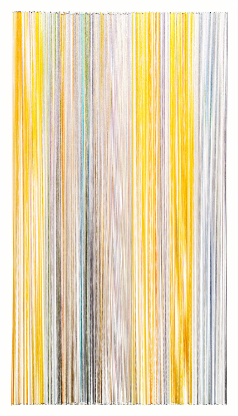 thread drawing 33  2014 rayon thread 42 by 24 inches