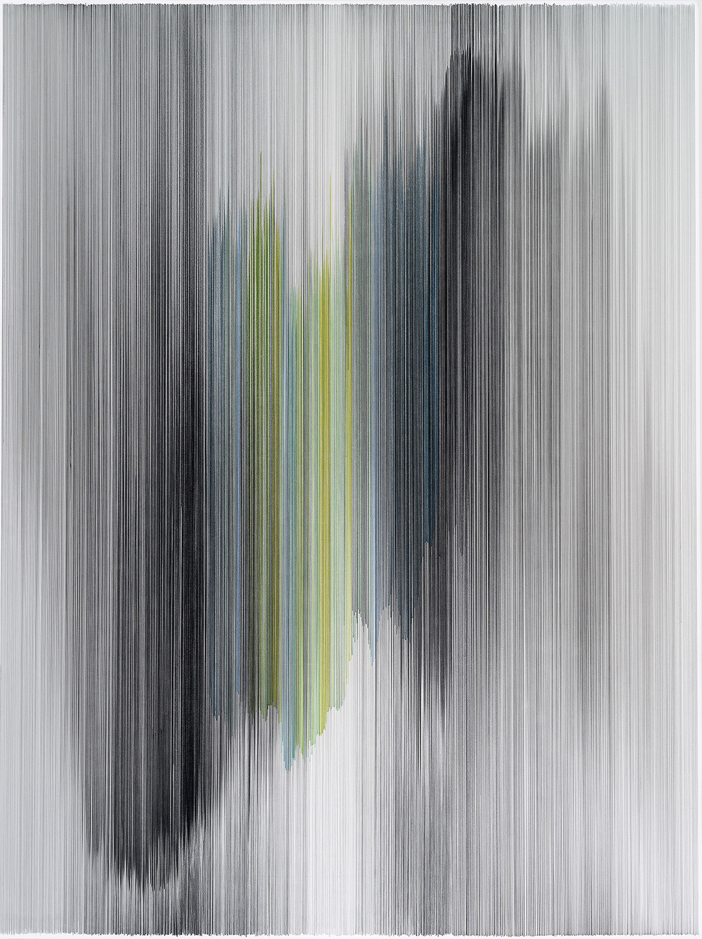 parallel 44  2014 graphite & colored pencil on mat board 60 by 80 inches