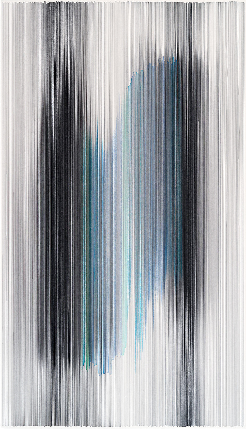 parallel 41  2014 graphite & colored pencil on mat board 34 by 59 inches