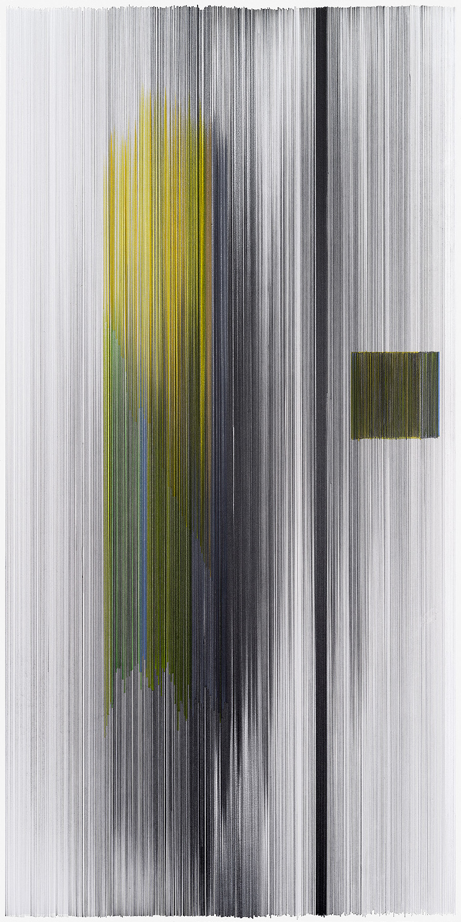 notations 08  2014 graphite & colored pencil on mat board 20 by 40 inches