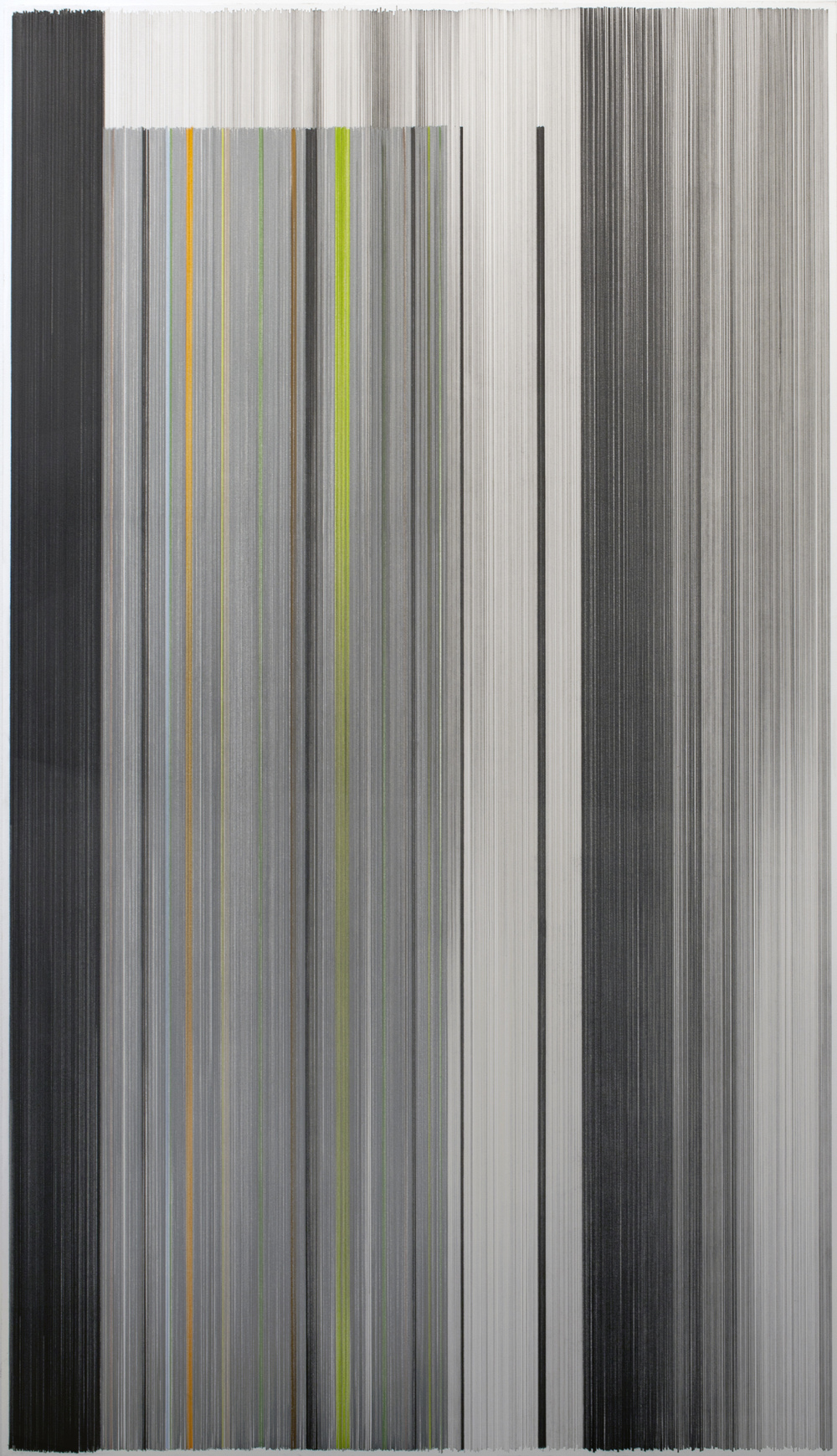 unfold 13   2016   graphite & colored pencil on mat board   34 by 59 inches