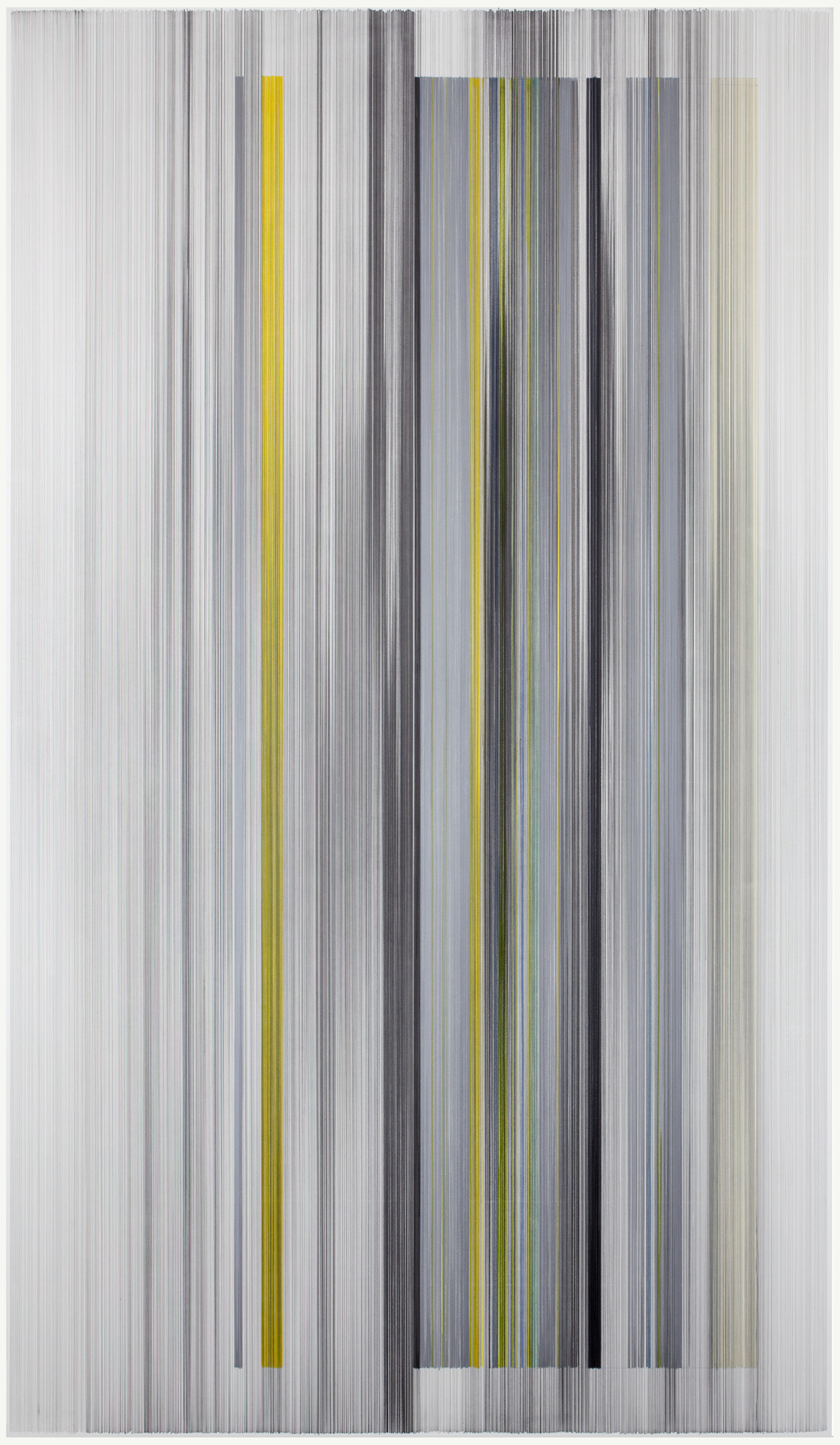 unfold 22   2016   graphite & colored pencil on mat board   59 by 102 inches