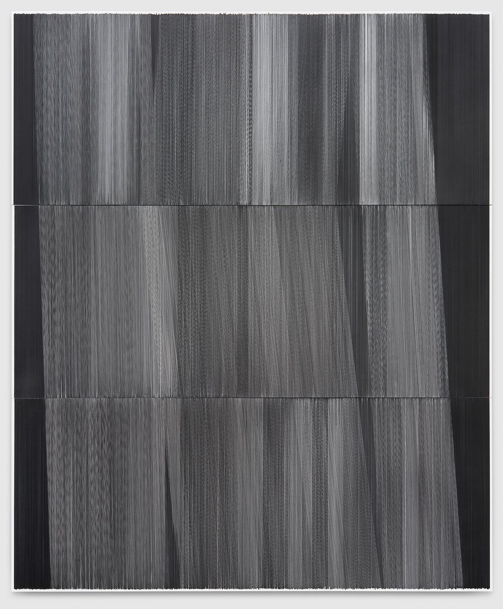 field drawing 02   2015   graphite on mat board   55 by 66 inches