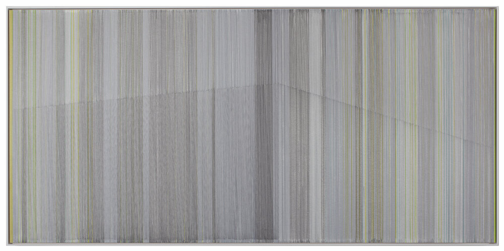 so quiet   2016   graphite & colored pencil on mat board   24 by 40 inches