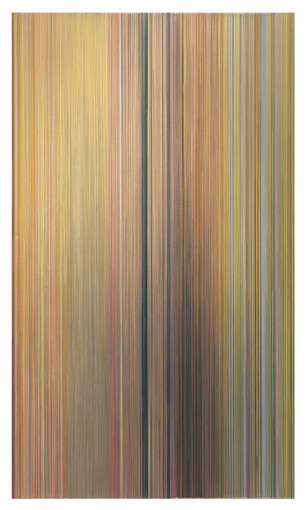 as though air could turn to honey  2017 graphite and colored pencil on mat board 59 by 102 inches title from page 290 of Wanderlust: A History of Walking by Rebecca Solnit (2001) Penguin Books