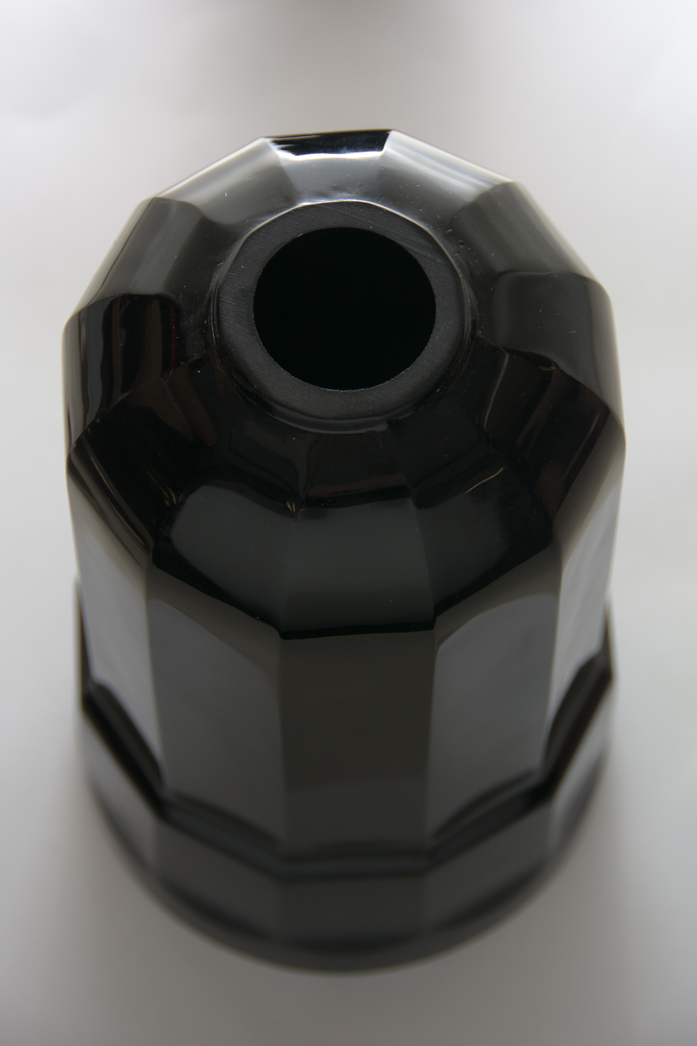 The black glass base