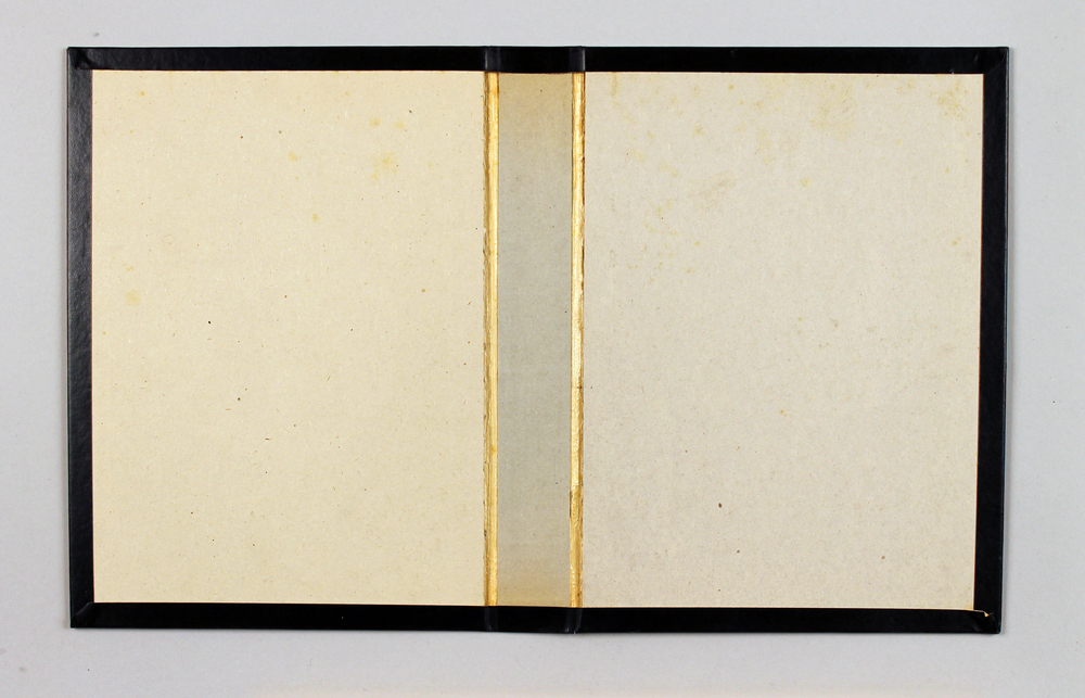 "Volume Three (Yellow Lines with Blue)  Found object, wood, 12"" x 20.25"", 2013"